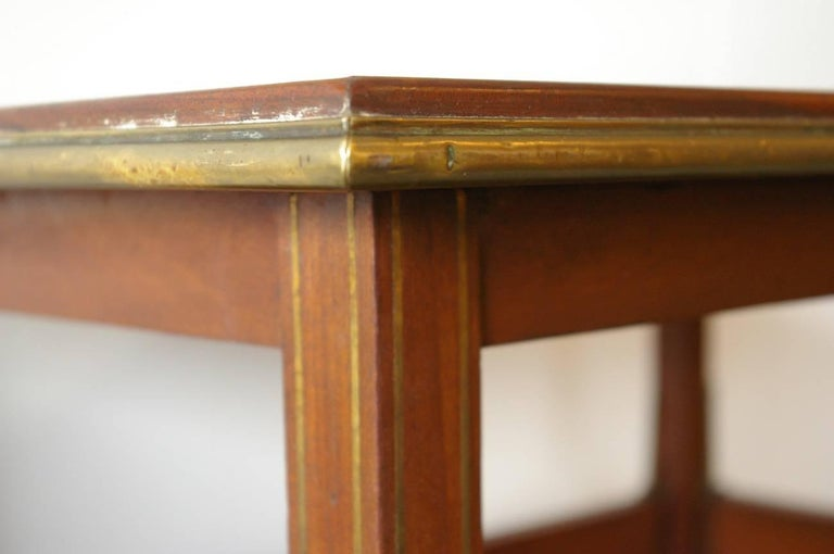 Brass French Tea Table from 1900, Designed by A. Bastet Lyon For Sale