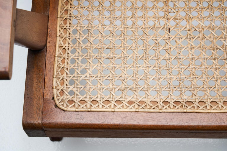 French Teak Armchair, France, 1950s For Sale 5
