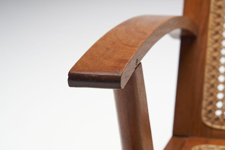 French Teak Armchair, France, 1950s For Sale 8