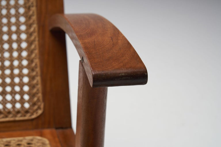 French Teak Armchair, France, 1950s For Sale 9