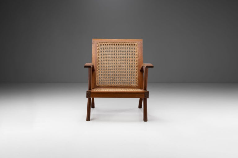 Mid-Century Modern French Teak Armchair, France, 1950s For Sale