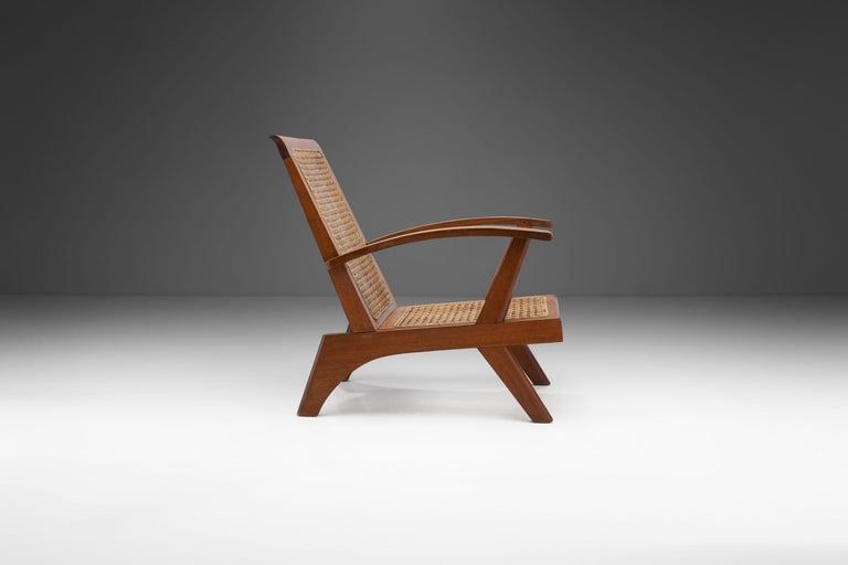 French Teak Armchair, France, 1950s In Good Condition For Sale In Utrecht, NL