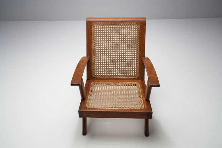 French Teak Armchair, France, 1950s For Sale 1