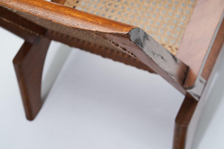 French Teak Armchair, France, 1950s For Sale 3