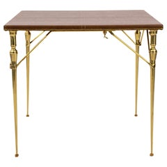 French Telescopic Folding Game Table