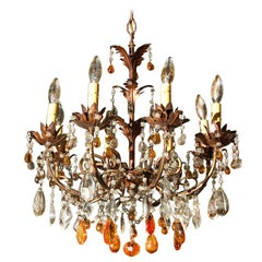 French Ten Light Chandelier
