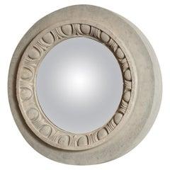French Terra Cotta Late 18th Century Convex Mirror