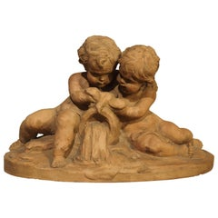 French Terracotta Sculpture by Fernand Guignier, Early to Mid-1900s