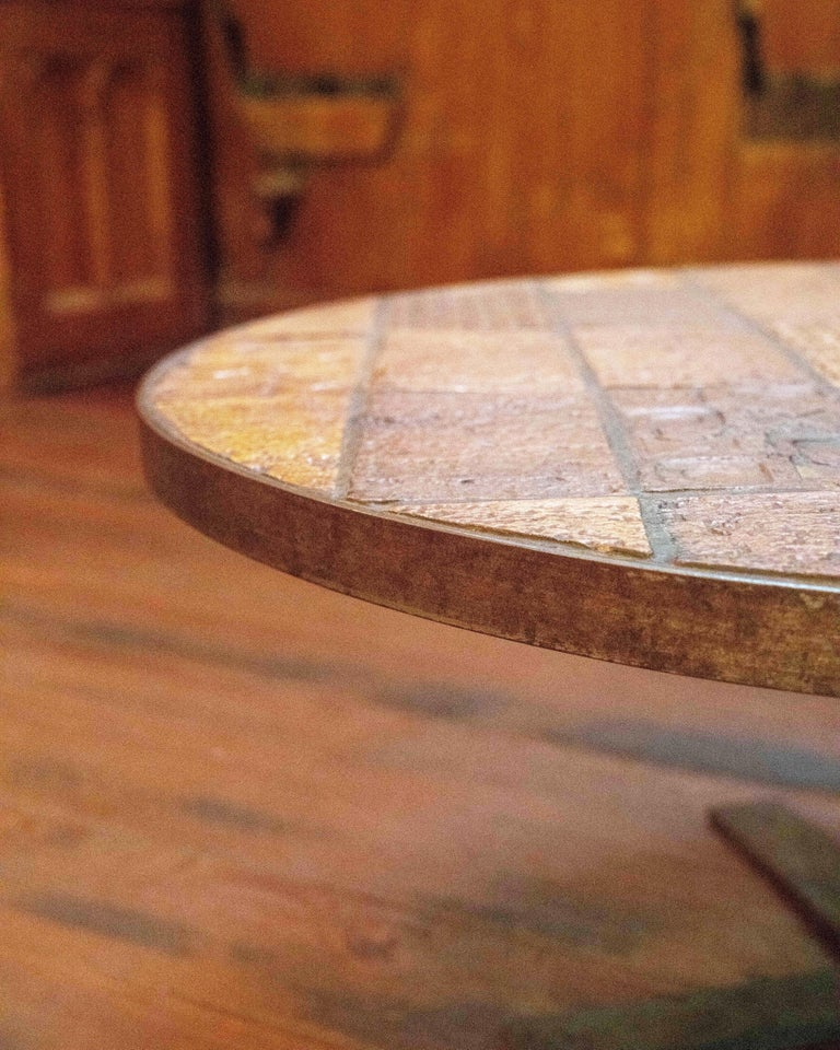French Terracotta Table, circa 1960 In Good Condition For Sale In New York, NY