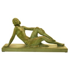 French Terracotta Art Deco Sculpture Signed U.Cipriani