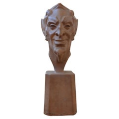 French Terracotta Bust by Max Le Verrier