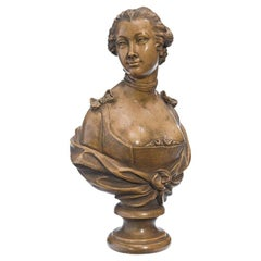 French Terracotta Bust of a Lady