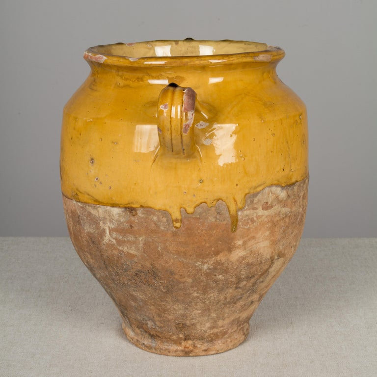 French Provincial French Terracotta Confit Pot For Sale