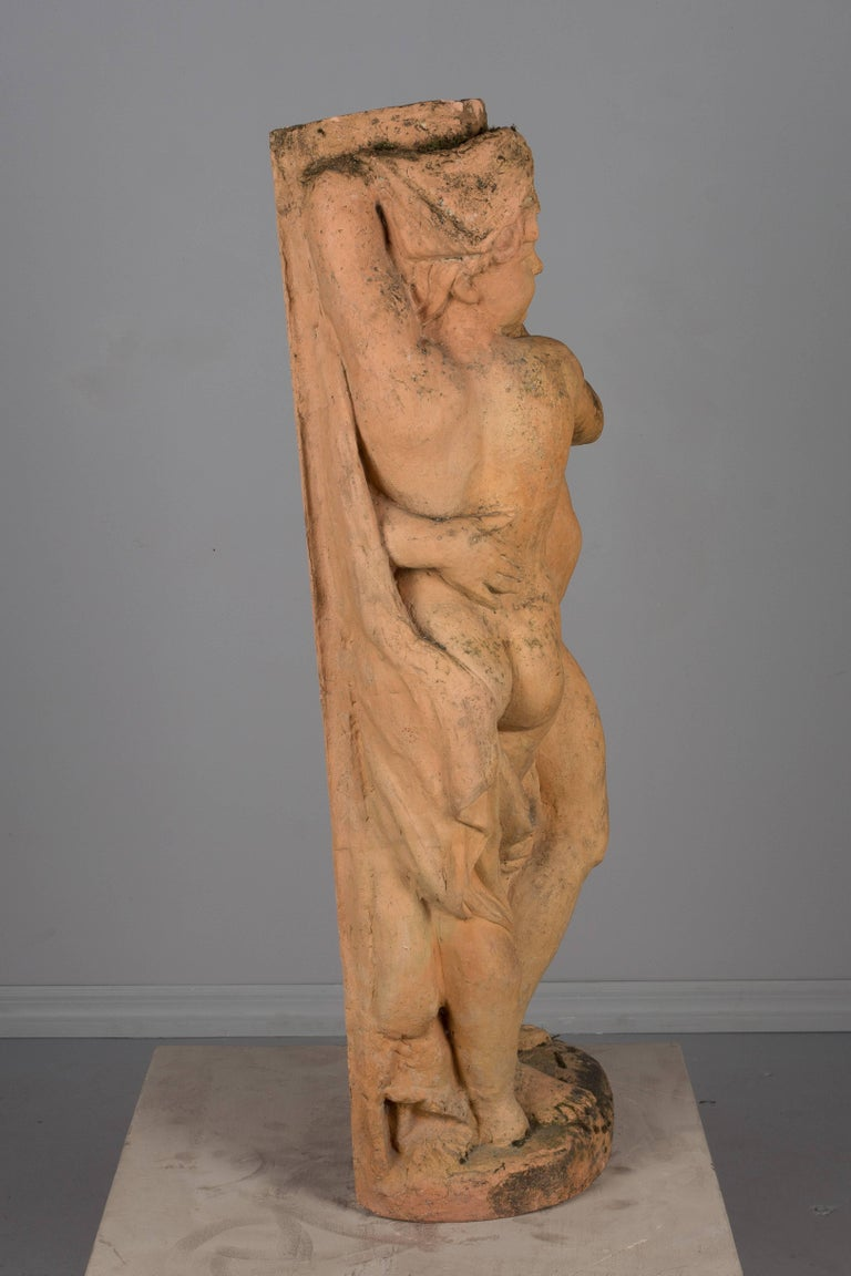 20th Century French Terracotta Garden Statue For Sale
