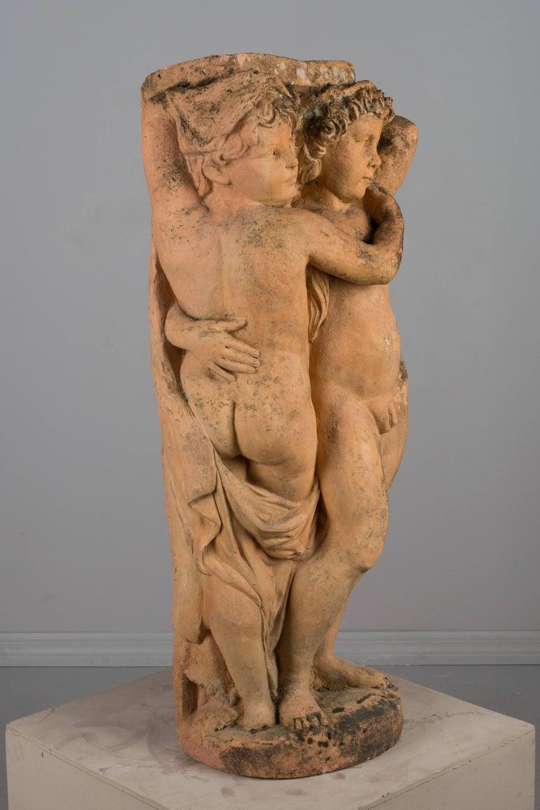 French Terracotta Garden Statue For Sale 1