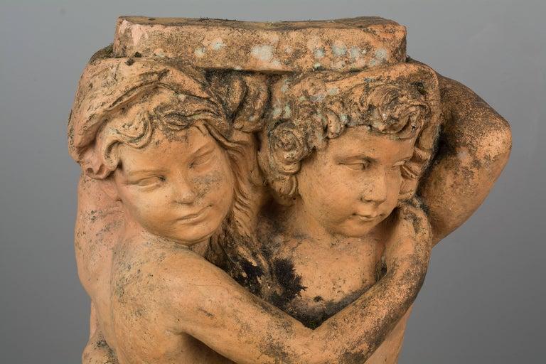 French Terracotta Garden Statue For Sale 3