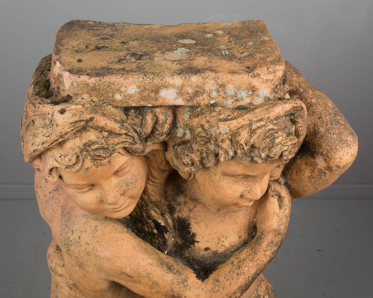 French Terracotta Garden Statue For Sale 4