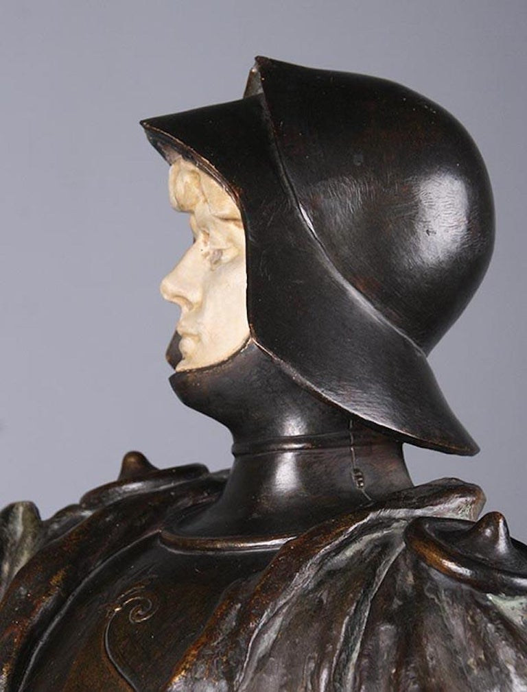 French Terracotta Statue of a Knight Signed J. Dupré For Sale 9