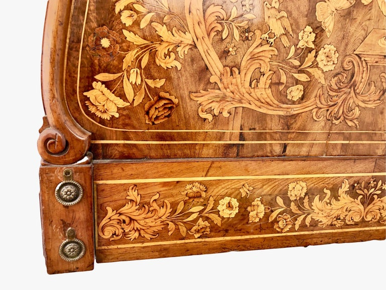 French Thomas Hache Louis XIVth Marquetry Children's Bed, 1690 For Sale 9