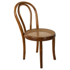 French Thonet Style Bentwood Child's Chair with Caned Seat, circa 1900, Fischel