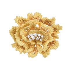 French Three Dimensional Floral Pin