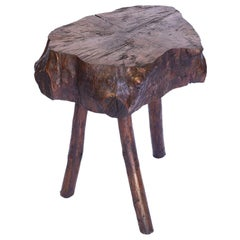 French Three-Leg Side Table or Stool