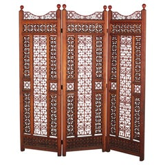 French Three-Panel Moorish Style Room Divider