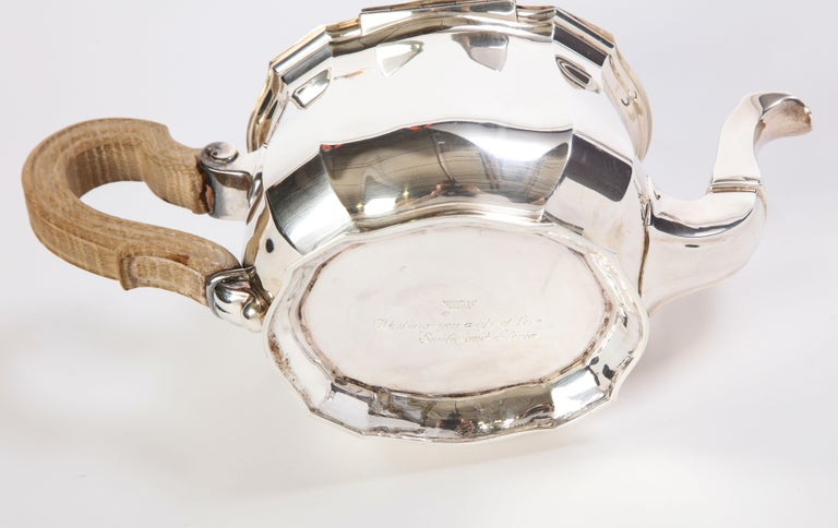 French Three-Piece Tea and Coffee Set in Silver, Mark of Tiffany & Co., New York For Sale 9