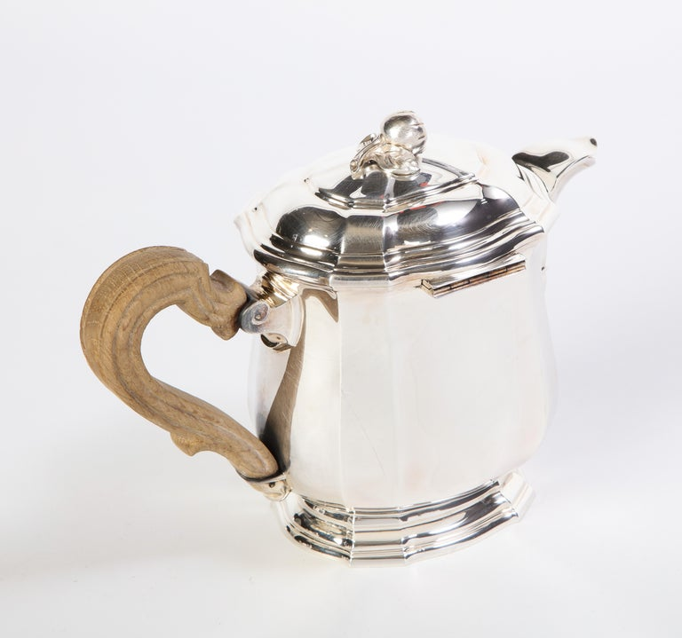 French Three-Piece Tea and Coffee Set in Silver, Mark of Tiffany & Co., New York For Sale 12