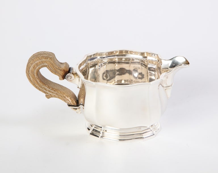French Three-Piece Tea and Coffee Set in Silver, Mark of Tiffany & Co., New York For Sale 14