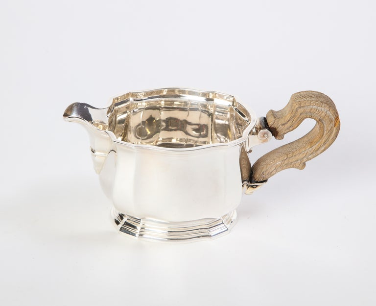 French Three-Piece Tea and Coffee Set in Silver, Mark of Tiffany & Co., New York For Sale 15