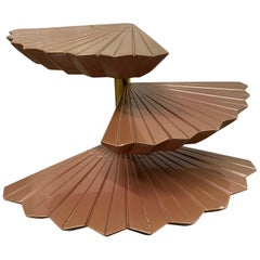 French Three-Tier Revolving Table