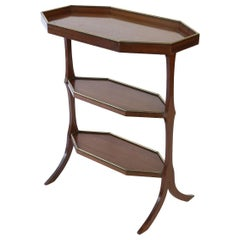 French Three-Tier Side Table, Early 1900s