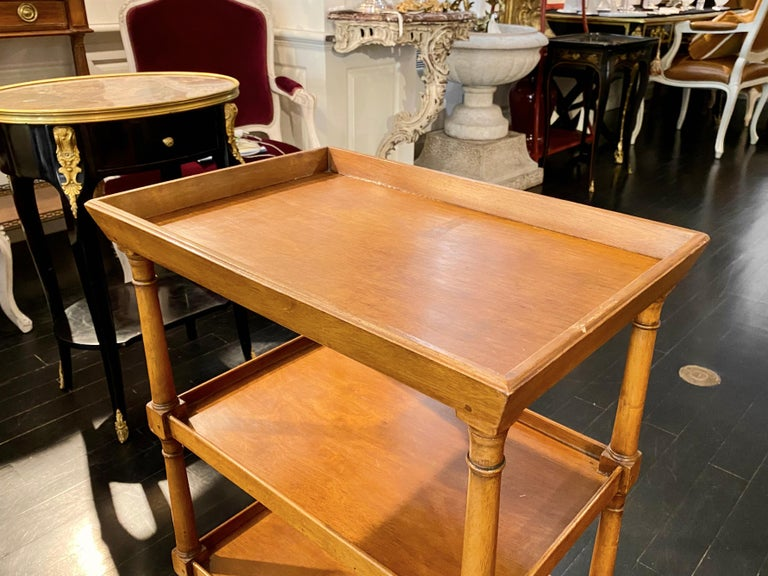 French Tiered Tray Table, Bronze Sabot Caps For Sale 11
