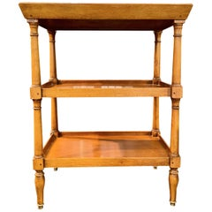 French Tiered Tray Table, Bronze Sabot Caps