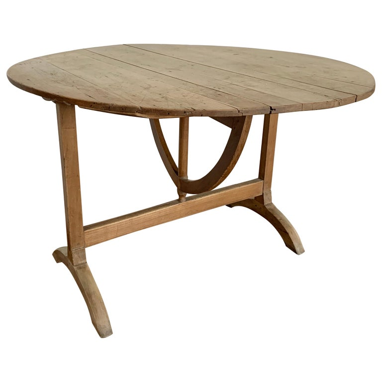 French Tilt-top Wine Tasting Table, 19th Century For Sale