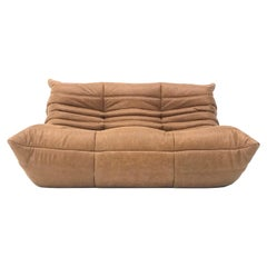 French Togo 2-Seater in Cognac Leather by Michel Ducaroy for Ligne Roset