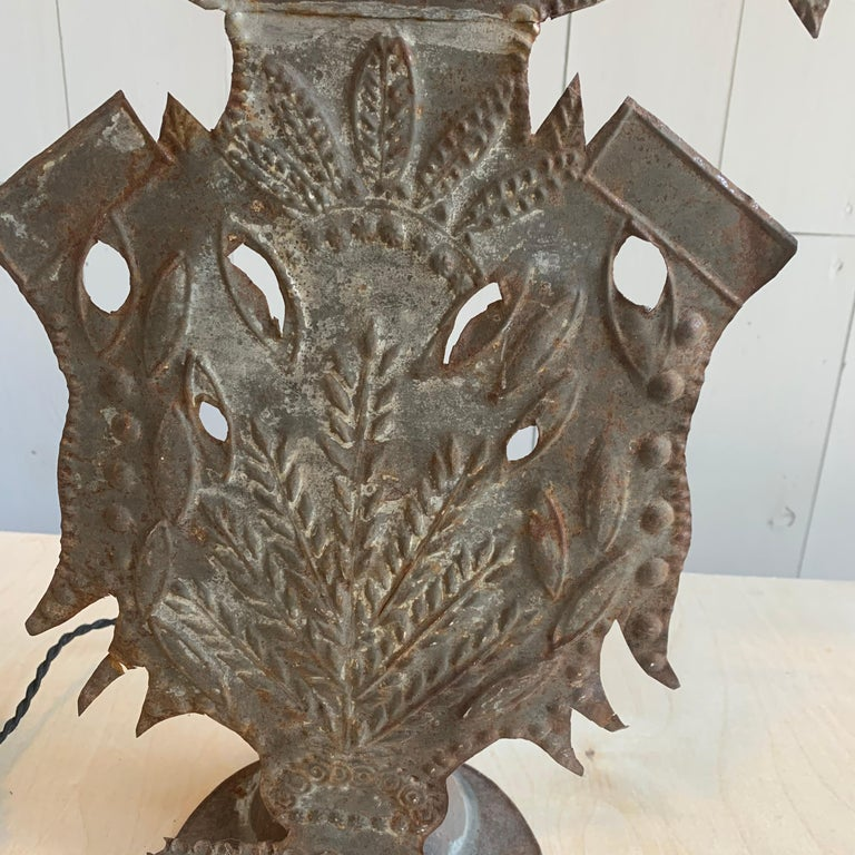 French Provincial French Tole Altar Decoration Lamp For Sale
