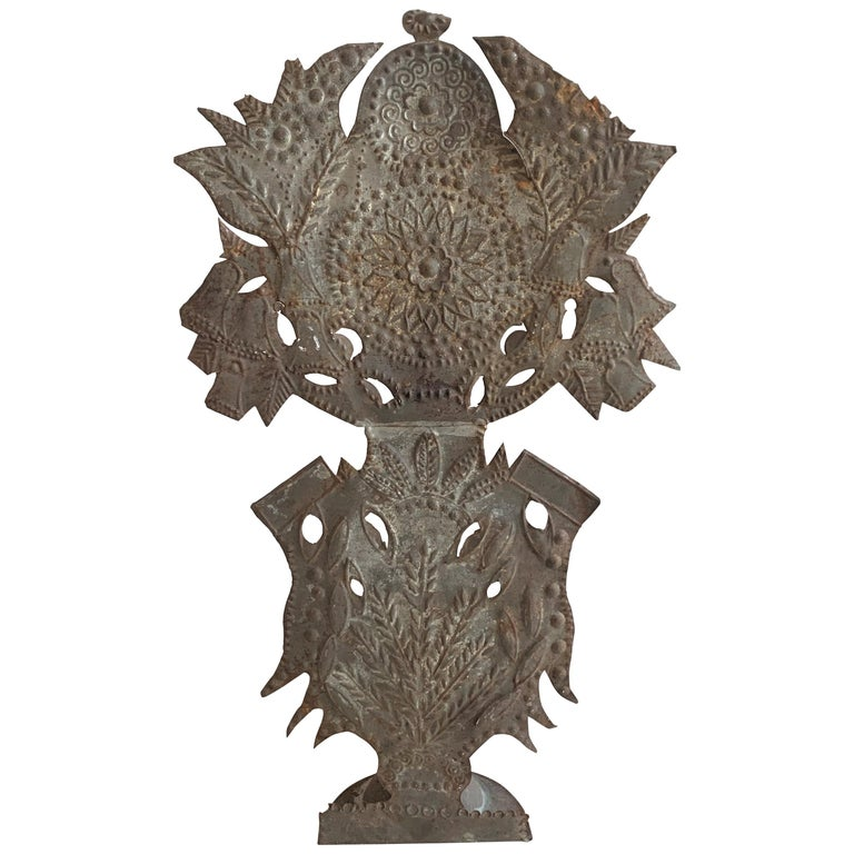 French Tole Altar Decoration Lamp For Sale