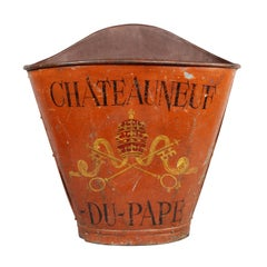 French Tole Grape Basket from the Chateauneuf Du-Pape