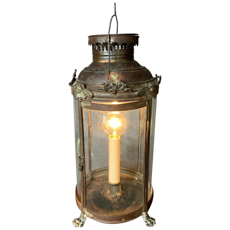 French Tole Lantern Lamp