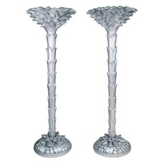 French Torchère Floor Lamps in the Manner of Serge Roche