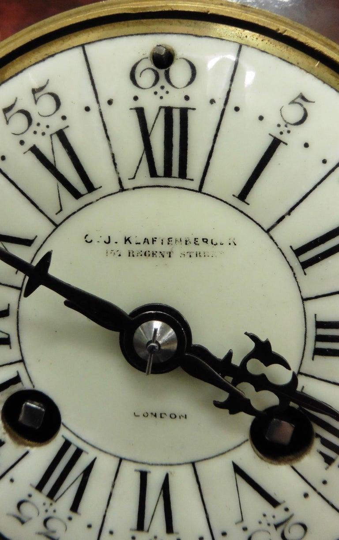 French Tortoiseshell Boulle Mantel Clock For Sale 6