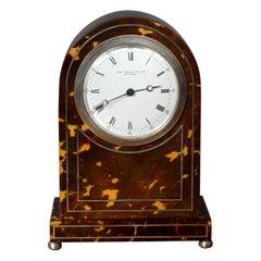 French Tortoiseshell Mantel Clock by John Bagshaw and Son, Liverpool