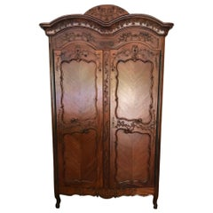 French Traditional 2 Door Armoire