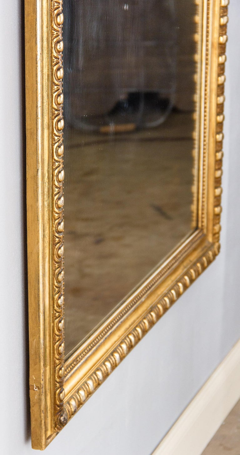 French Transition Louis XV to Louis XVI Gilded Mirror, Mid-1800s 10
