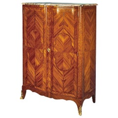 French Transitional 19th Century two door armoire mounted w/ fine ormolu mounts