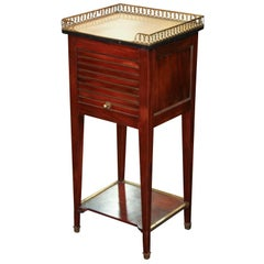 French Transitional Marble-Top Stand