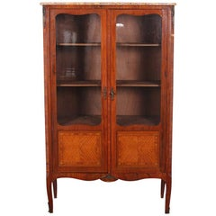 French Transitional Style Kingwood Bookcase Bibliotheque