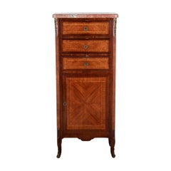 French Transitional-Style Narrow Cabinet
